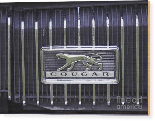 1968 Cougar Wood Print