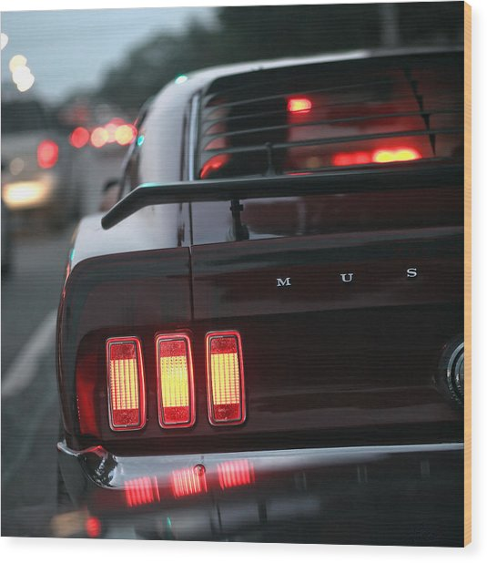 1969 Ford Mustang Mach 1 Wood Print