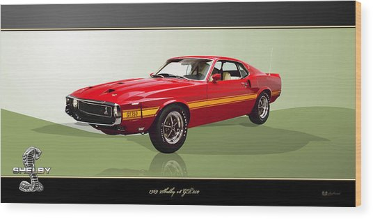 1969 Shelby V8 Gt350  Wood Print