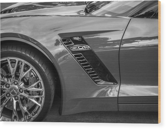 2015 Chevrolet Corvette Z06 Painted  Wood Print