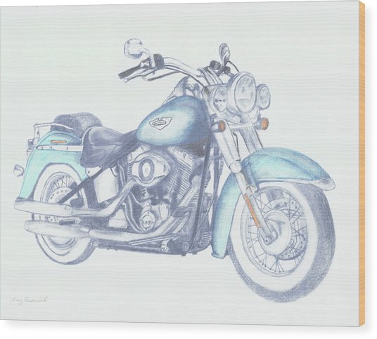 2015 Softail Wood Print