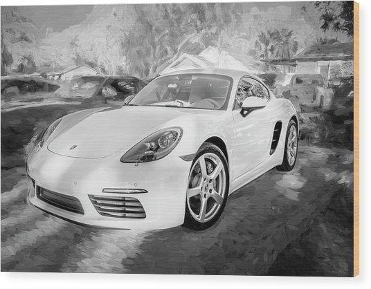 2017 Porsche Cayman 718 S  Bw    Wood Print