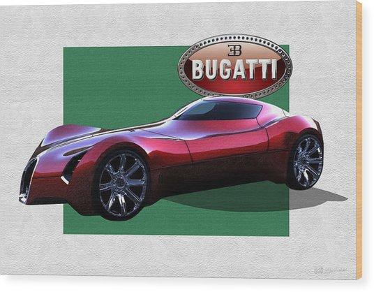 2025 Bugatti Aerolithe Concept With 3 D Badge  Wood Print