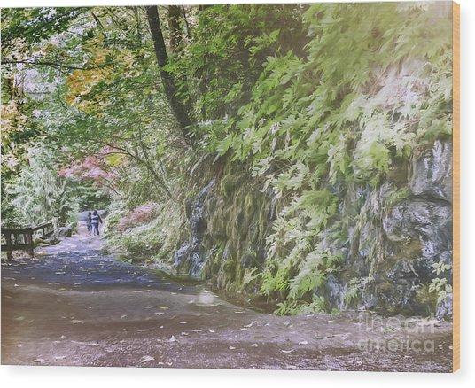 Road To Emmaus Wood Print by Jean OKeeffe Macro Abundance Art