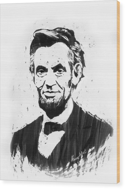 A. Lincoln Wood Print by Harry West