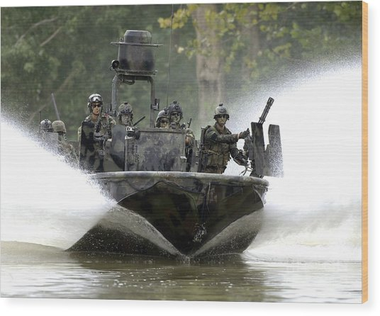 A Special Operations Craft Riverine Wood Print