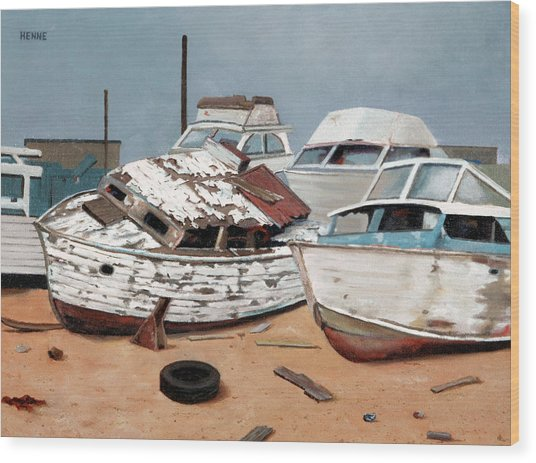 Wood Print featuring the painting Abandoned Dreams by Robert Henne