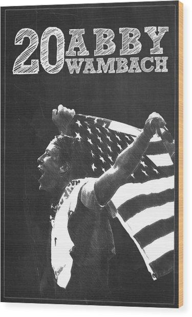 Abby Wambach Wood Print