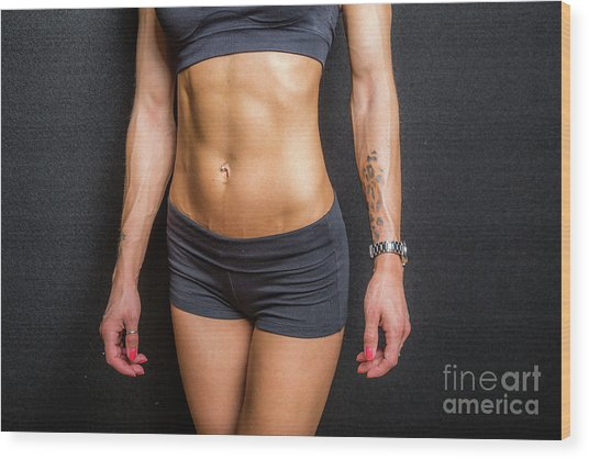 Abdominal Muscles Wood Print