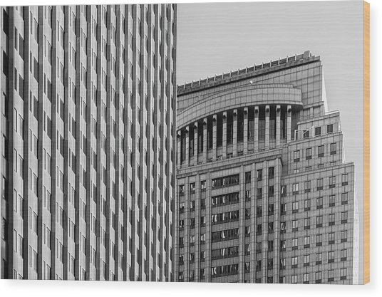 Abstract Architecture - New York Wood Print