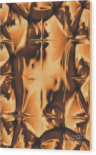 Abstract Breasts By Mb Wood Print