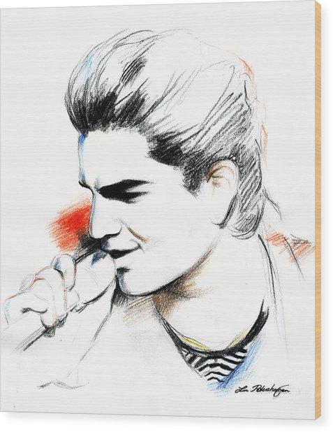 Adam Lambert Wood Print