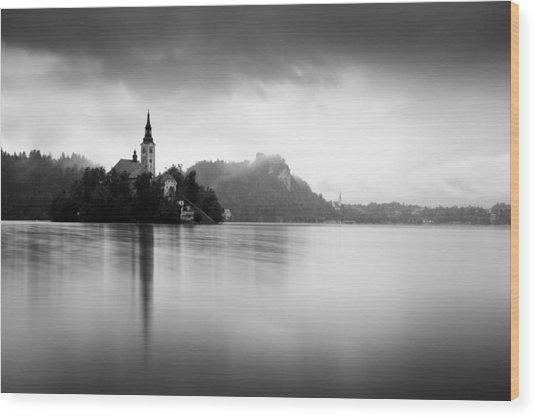 After The Rain At Lake Bled Wood Print