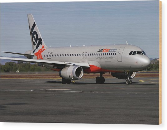 Airbus A320-232 Wood Print