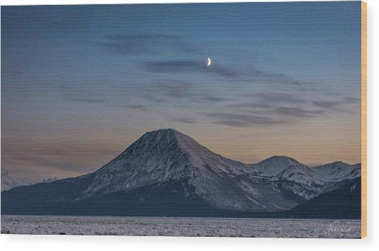 Alaska Sunset Wood Print