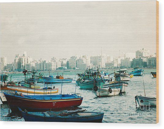 Alexandrian Harbour Wood Print