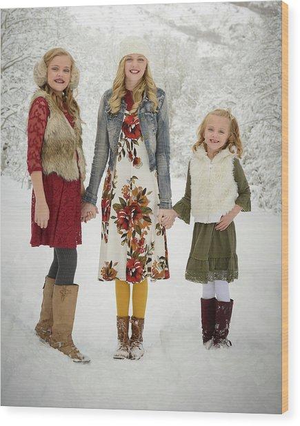 Alison's Family Wood Print