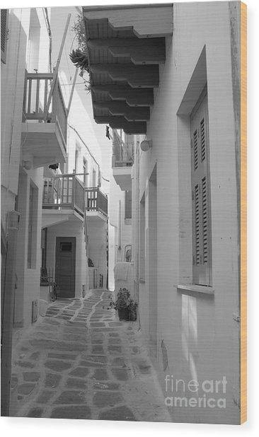 Alley Way Wood Print