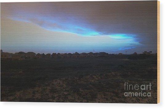 Alternate Sunset Blue Wood Print