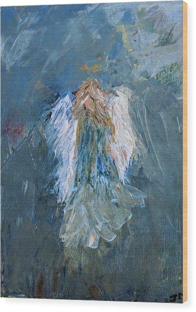 Angel Girl Wood Print