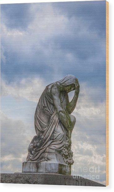 Anguish Wood Print by Randy Steele