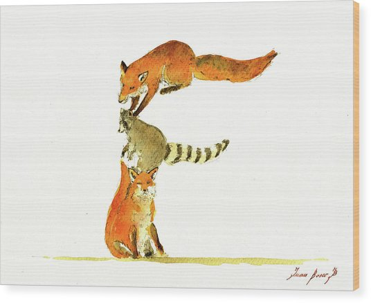 Animal Letter Wood Print
