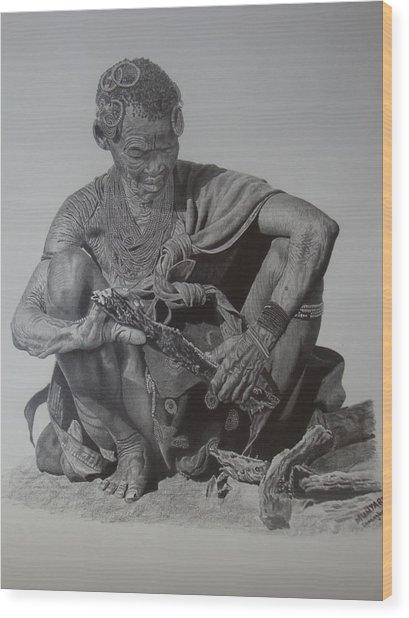 Another Day Wood Print by Lemington  Muzhingi