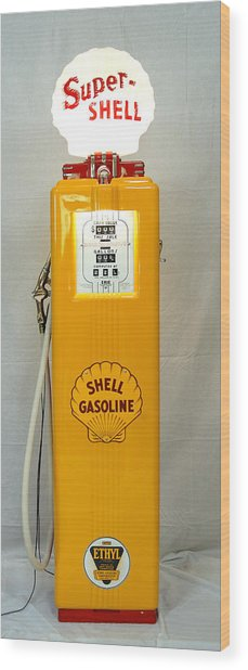 Antique Gas Pump Wood Print