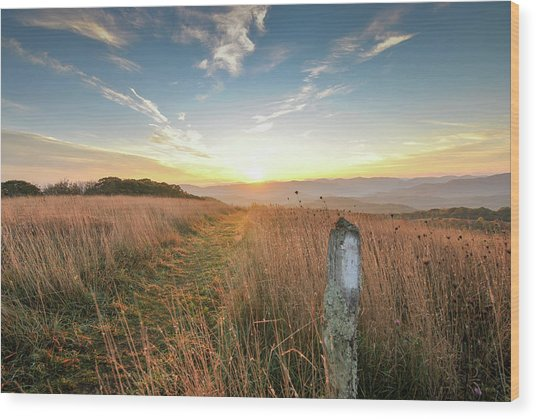 Appalachian Trail Sunrise Wood Print