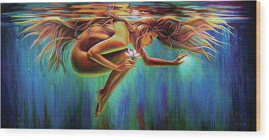 Aquarian Rebirth Wood Print