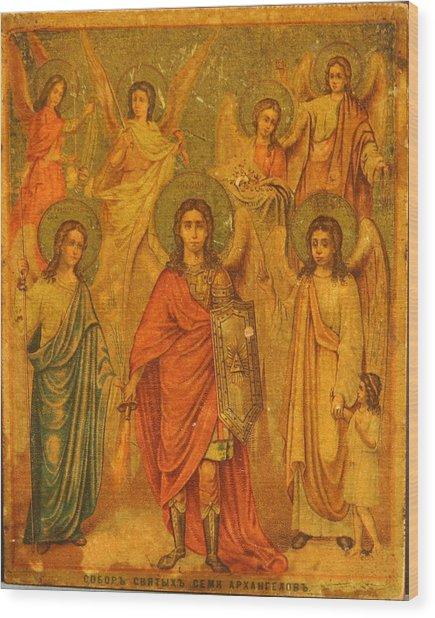 Archangels  Wood Print by Renaissance Master