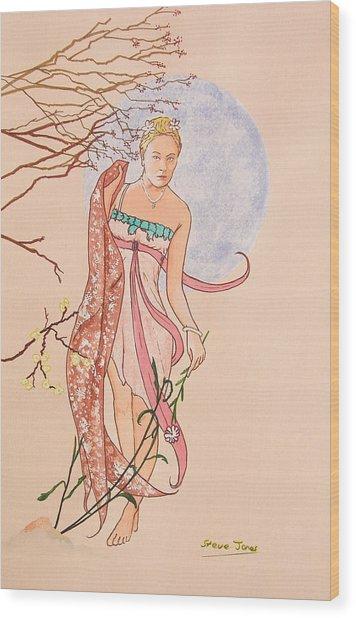 Art Nouveau Wood Print by Steve Jones