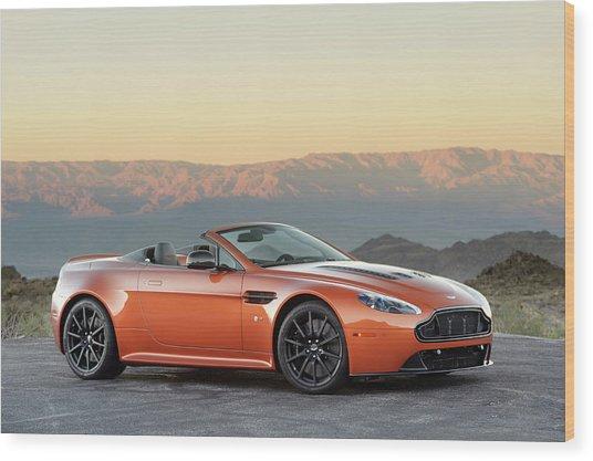 Aston Martin V12 Vantage S Roadster Wood Print by Drew Phillips