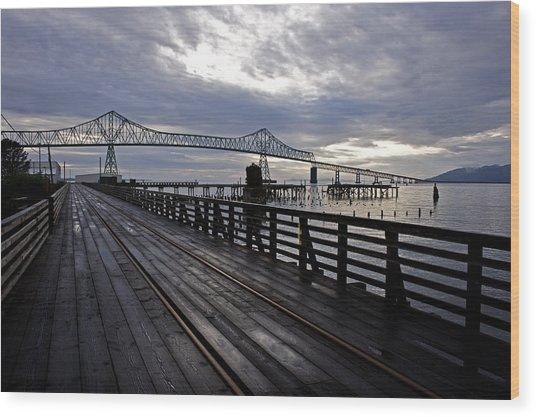 Astoria-megler Bridge 4 Wood Print