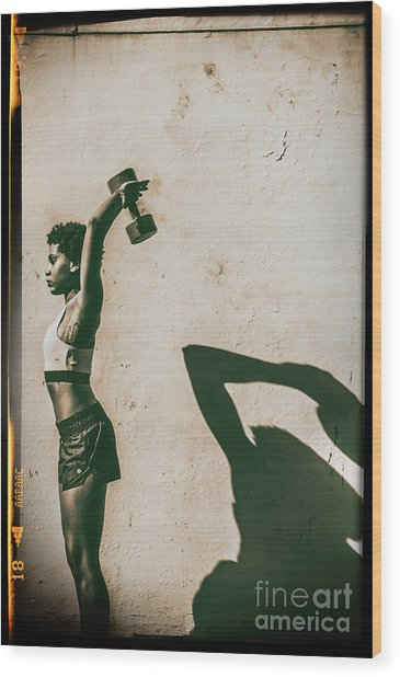 Athletic Woman Wood Print