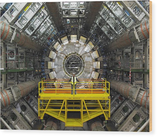 Atlas Detector, Cern Wood Print by David Parker