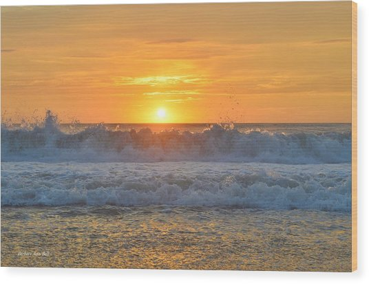 August Sunrise   Wood Print