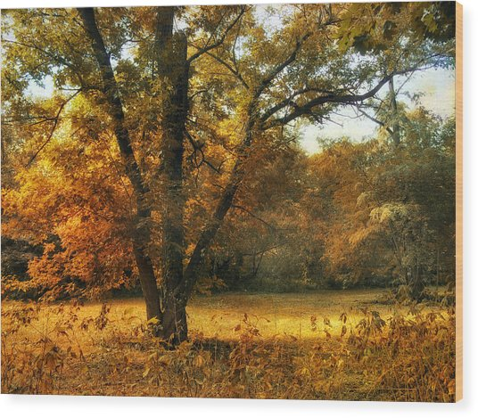 Autumn Arises Wood Print