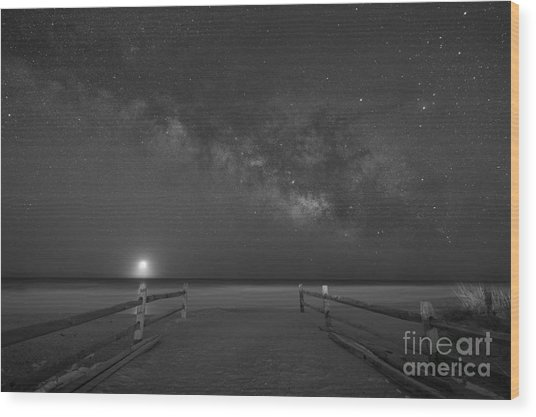 Avalon New Jersey Milky Way Rising  Wood Print