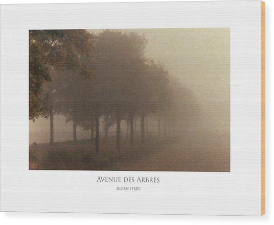 Avenue Des Arbres Wood Print