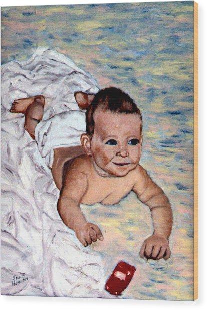 Baby In Heaven Wood Print by Stan Hamilton