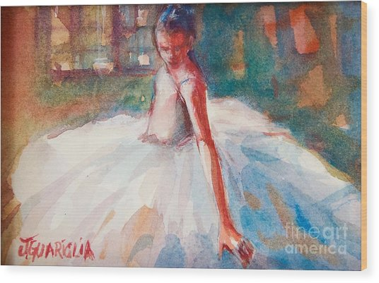 Ballerina 2 Wood Print by Joyce A Guariglia