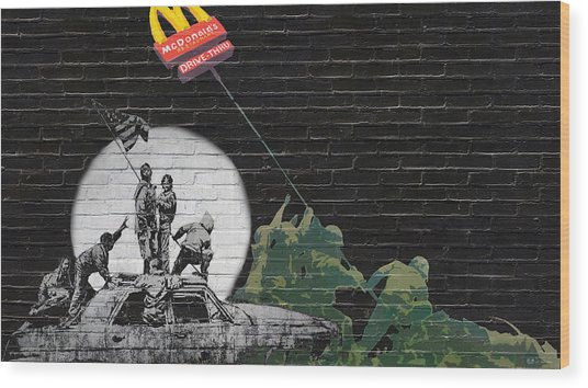 Banksy - The Tribute - New World Order Wood Print