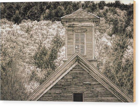 Barn Montgomery Vermont Wood Print