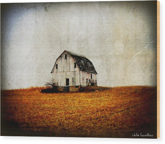 Barn On The Hill Wood Print