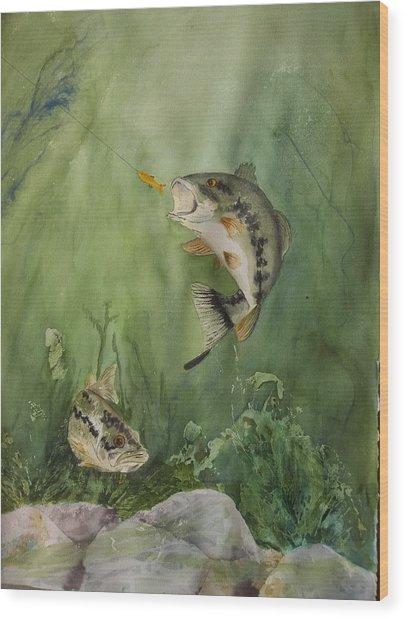 Bass On The Bottom Wood Print