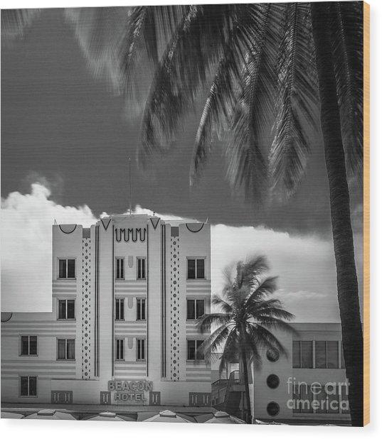 Beacon Hotel Miami Wood Print