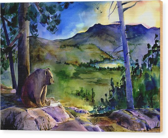 Bearly Light At Castle Peak Wood Print