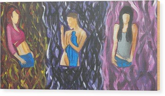 Beauty Of Women  Wood Print