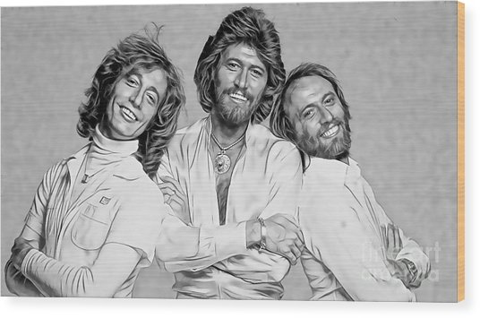 Bee Gees Collection Wood Print